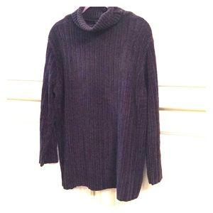 Express.  Long tunic/sweater.  Dark purple.